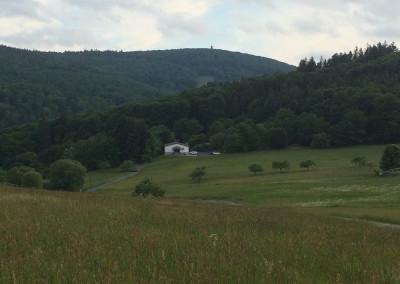 Schützenhaus Hunoldstal aus der Ferne
