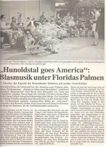 Schützenkapelle Finsternthal Hunoldstal - Tour 1995 nach Florida